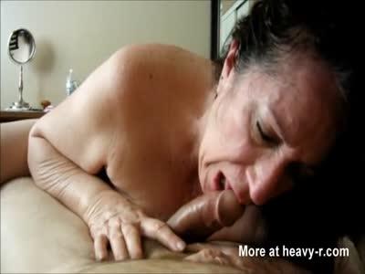 Horny Grandma Blowjob