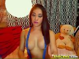 Sexy Asian Shemale Strokes her Big Cock