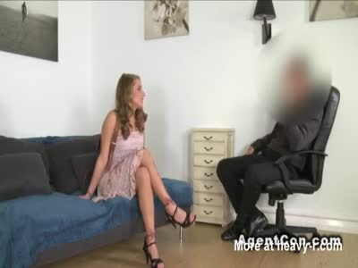 Euro blonde fucks in casting