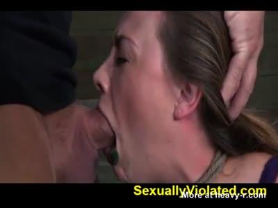 Brutal Deep Throat Bondage