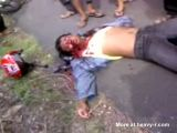 Biker Dying In The Street After Bad Accident