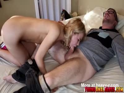 Alina West rides her boyfriends cock in her ass