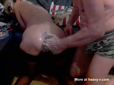 Anal fist of a old bitch