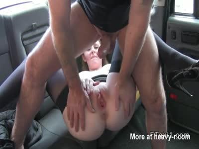 Cute Redhead Taxi Banged