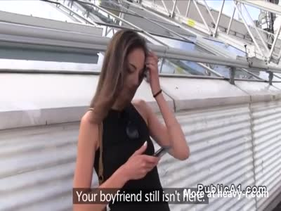 Czech babe cheating bf in public