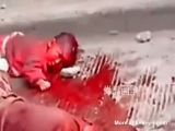 Maniac butchers mother and baby