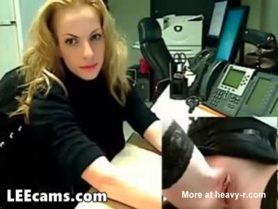 Masturbating Secretary In Office