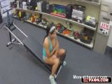Busty babe ends up fucked in the pawnshop