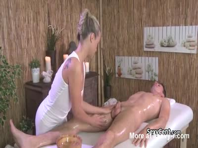 Chick Massages And Fucks Client