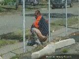 Dude takes a dump outside