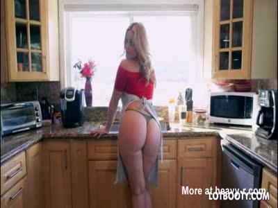 Fat Ass In Kitchen