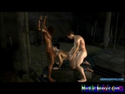 Muscular hentai gay slave hot gangbanged orgy