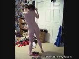 Amateur teen strip dance