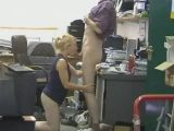 Blow job in the office