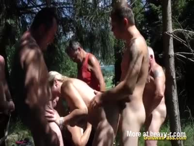 Gangbang In Beautiful Nature