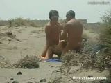 Public Threesome On The Beach