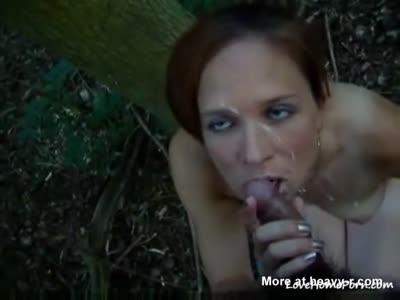 Outdoor Facial Cumshot