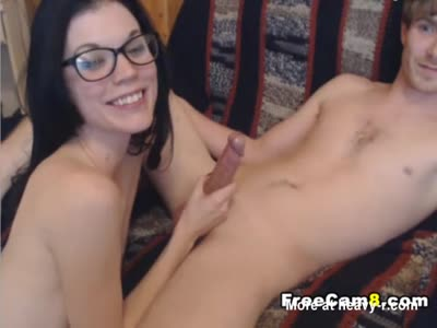 Nerdy Babe Sucks Good And Gets A Facial
