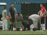 Soccer Player Convulses After Bad Collision