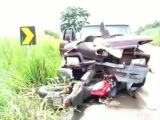 Pickup vs motorcycle