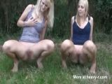 German Teens Pissing Outdoor
