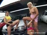 Public Lesbian Piss Threesome