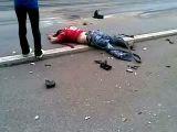 Bloody car crash