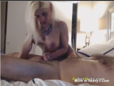 Horny MILF sucking and fucking mature dick in hot lingerie.