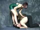 Tortured by big titted mistress