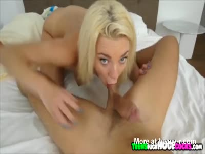 Shorty Gets Face Full Of Sperm