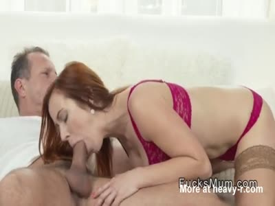 Redhead Milf Giving Oral Sex