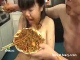 Girl refuses scat dinner