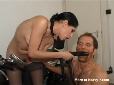 Forcing Sissy To Eat Shit