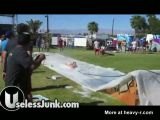Topless slip and slide goes wrong