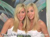 Beautiful Twins, Erotic blonde twin tease.