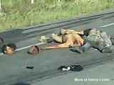 Aftermath of fight between cartels in Mexico