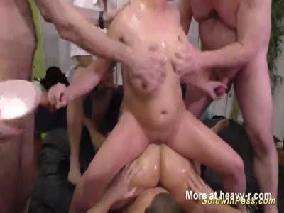 Slippery Oiled Lederhosen Orgy