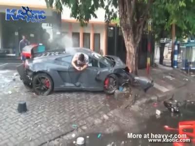 Lamborghini Crash Kills Pedestrian