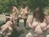 Outdoor BBW Orgy
