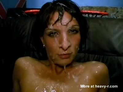 Small Tit Brunette Extreme Cum Covered
