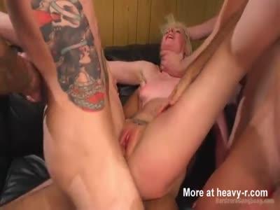 Rough BDSM Gangbang