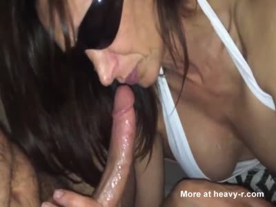 Horny MILF Sucking On Cock