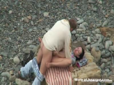 Kinky Amateur Couple Beach Sex