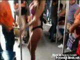 Stripping In Public Bus