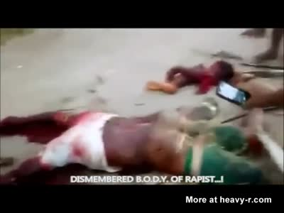 DISMEMBERED B.O.D.Y. OF RAPIST...!