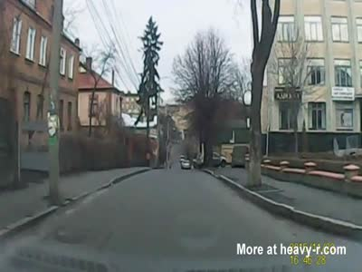 Kid Crosses Street Without Looking And Is Hit By Car