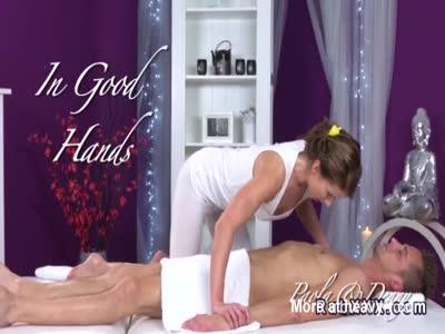 Sexy Euro masseuse sucks and fucks her customer