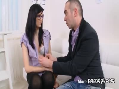 Lovable schoolgirl gets seduced and shagged by her elderly s