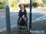 Disabled Girl Flashing Her Pussy