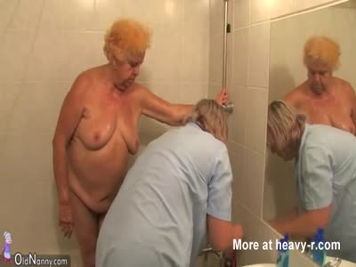 Old Granny Stripped For Washing
